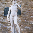 Replica of David statue by Michelangelo in Piazza della Signoria — Stock Photo