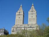 Central park buildings — Stock Photo