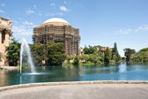 Palace of fine arts under renovation — Stock Photo