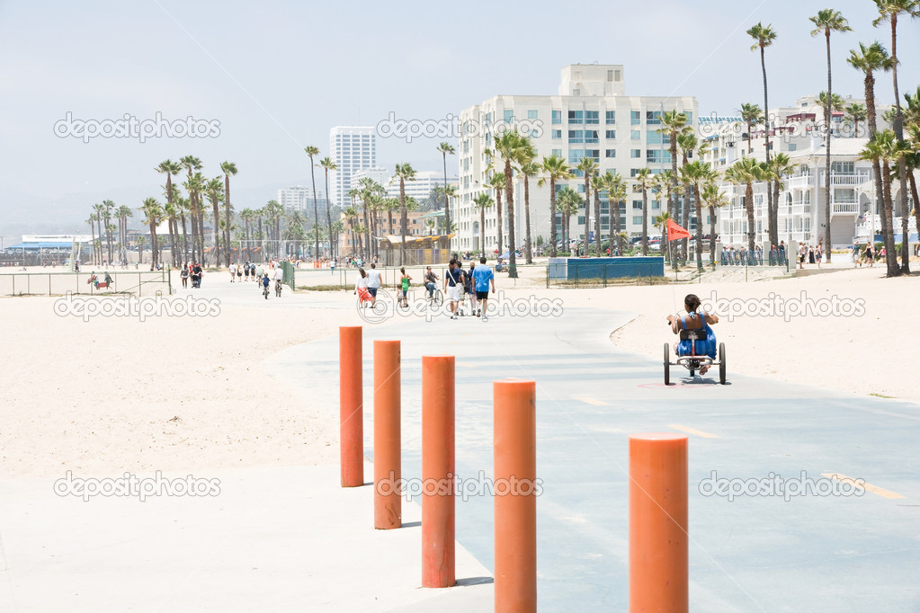 Santa monica beach — Stock Photo #6571371