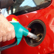 Putting gasoline — Stock Photo