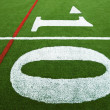 Ten yard line - Foto Stock