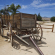 Stock Photo: Old wild west wagon