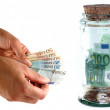 Geld sparen — Stock Photo
