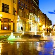 Wroclaw at night /Poland/ — Stock Photo