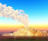 Volcanic crater — Stock Photo