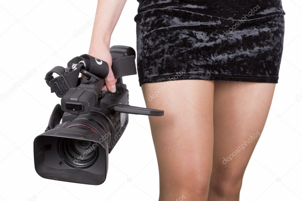 Sexy videographer — Stock Photo #6111541