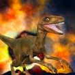 Stock Photo: Dinosaur doomsday