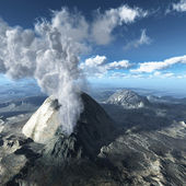 Young volcano being born — Stock Photo