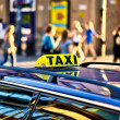 Stock Photo: Taxi waiting for clients