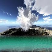Volcanic eruption — Stock Photo