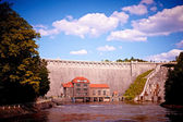 One hundred years old dam in Pilichowice, Poland — Stock Photo