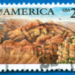 Stamp printed in USA showing Grand Canyon - Stock Photo