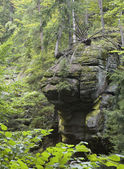Big rocky formation over the creek in Southern Poland — Stock Photo