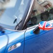 British Patriotism shown on car mirror — Stock Photo #6436708
