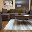 Modern bright living room with sofa — Stock fotografie