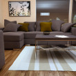 Modern bright living room with sofa — Foto Stock