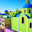 Greek village — Stock Photo