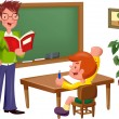 Lesson at school — Stock Vector