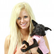 Woman with pet — Stock Photo #6117112