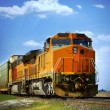 Railroad train - Stock Photo