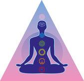 Système des chakras humains — Vecteur