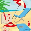 Stock Vector: Beach stuff