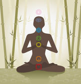Système des chakras — Vecteur