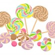 Stock Vector: Sweet lollipops