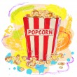 Tasty popcorn — Stock Vector