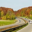 Autumn color highway — Stock Photo