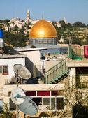 золотой купол иерусалима — Стоковое фото