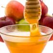 Bal ve elma — Stok fotoğraf