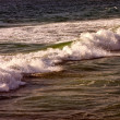 Stockfoto: Surf by mediterranesein before evening illumination