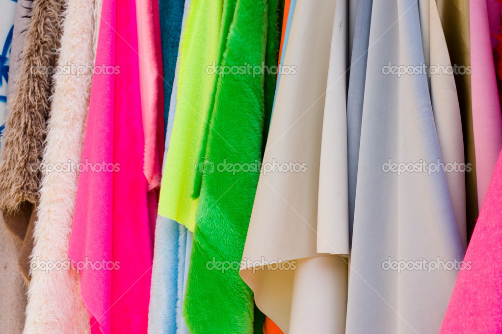 Color thin fabrics exposed on the bright sun — Stock Photo #6298824