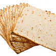 Stock Photo: Pieces matzot prepared for celebrating passover ceremony