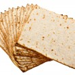 Pieces matzot prepared for celebrating passover ceremony — Stock Photo #6379019