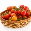Basket with tomatoes — Stock Photo #6395593