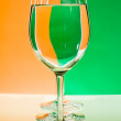 Stock Photo: Goblet with water