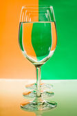 Goblet with water — Stock Photo