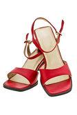 Röda sandaler — Stockfoto