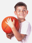 Child with Basketball ball — Stock Photo