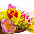 Spring flowers in basket — Stock Photo #6402147