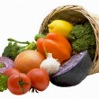 Stock Photo: Basket with vegetables