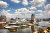 Panoramic view of Manchester, UK — Stock Photo