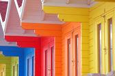 Colourful beach huts — Stock Photo