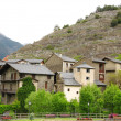 Little village in Pyrenees - 图库照片