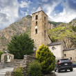 Little antique church in Andorra (Pyrenees) — Stok fotoğraf