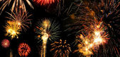 Colorful and vibrant fireworks — Stock Photo