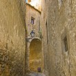 Narrow street in Girona — Stock Photo